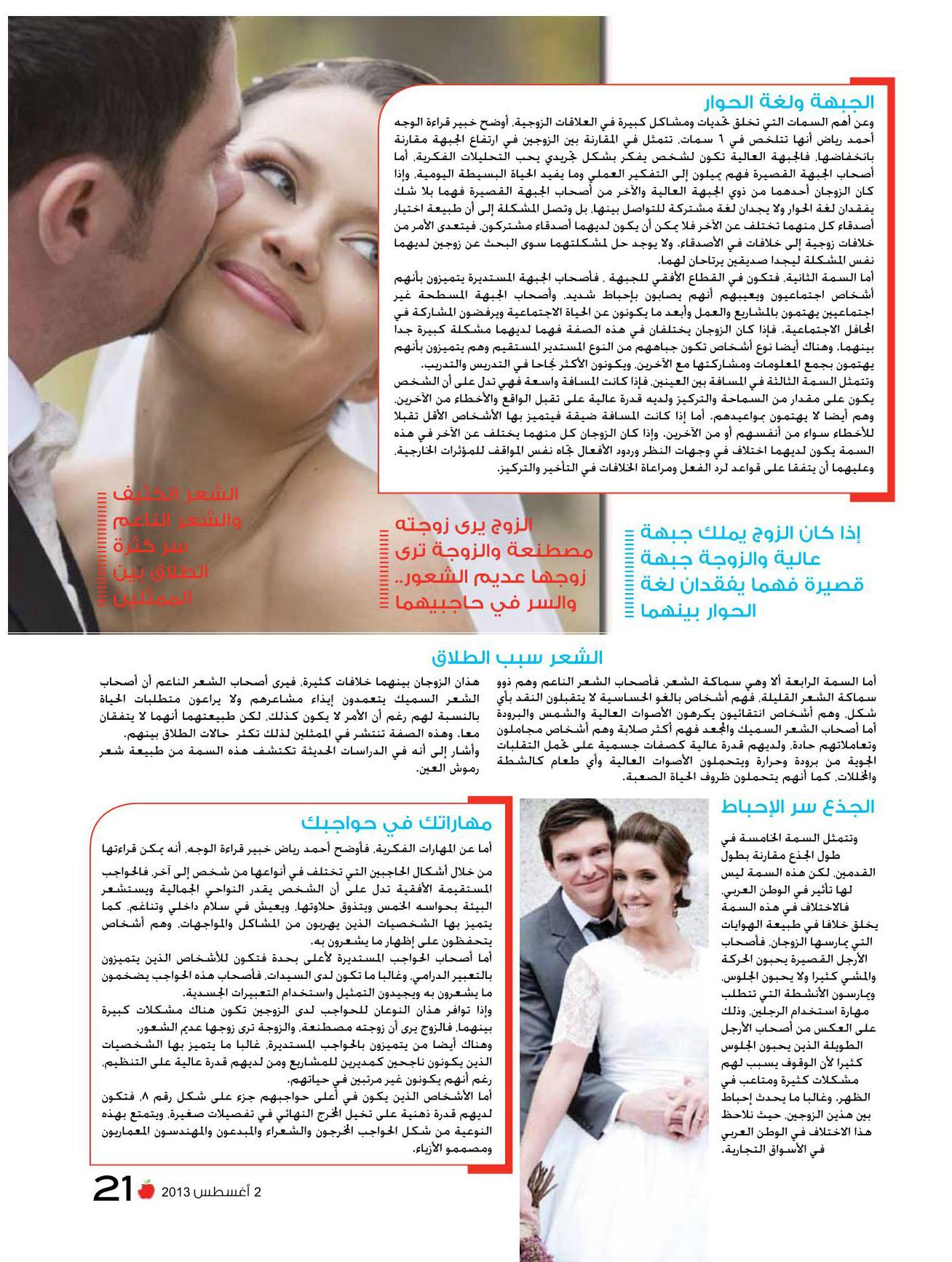 قراءة الوجه دليلك لزوج المستقبل