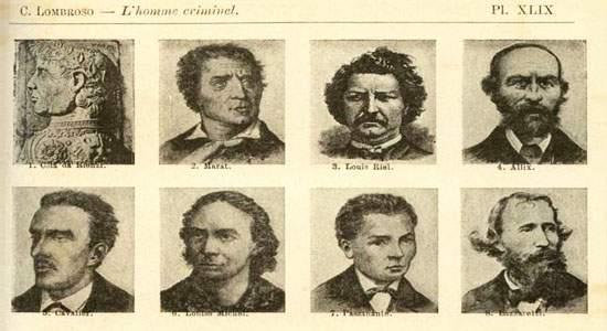 أمثلة على فسيولوجيا المجرمين من كتاب لومبروزو